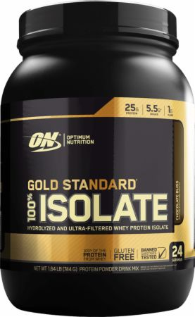 Gold Standard 100% Isolate Chocolate Bliss 1.58 Lbs. - Protein Powder Optimum Nutrition