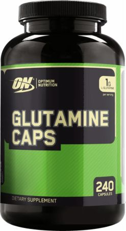 Image of L-Glutamine Capsules 240 Capsules - Post-Workout Recovery Optimum Nutrition