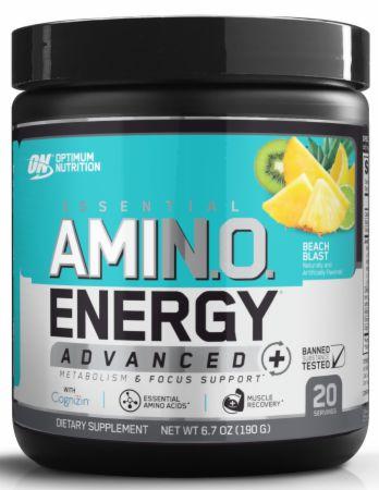 Image of AmiN.O. Energy Advanced+ Beach Blast 20 Servings - Amino Acids & BCAAs Optimum Nutrition