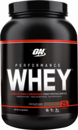 Optimum Nutrition Performance Whey Chocolate Shake 2 Lbs. - Protein Powder