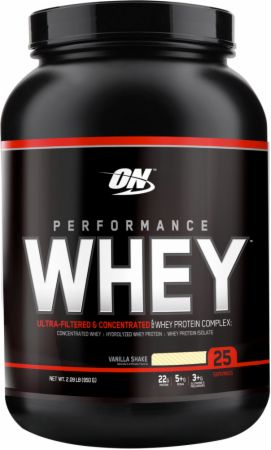 Optimum Nutrition Performance Whey Vanilla Shake 2 Lbs. - Protein Powder