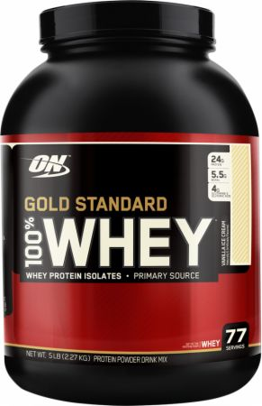 Image of Gold Standard 100% Whey Protein Vanilla Ice Cream 2.2 Kilograms - Protein Powder Optimum Nutrition