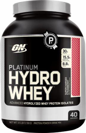 Platinum Hydrowhey Supercharged Strawberry 3.5 Lbs. - Protein Powder Optimum...