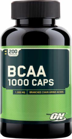 Image of BCAA 1000 Caps 200 Capsules - Amino Acids & BCAAs Optimum Nutrition