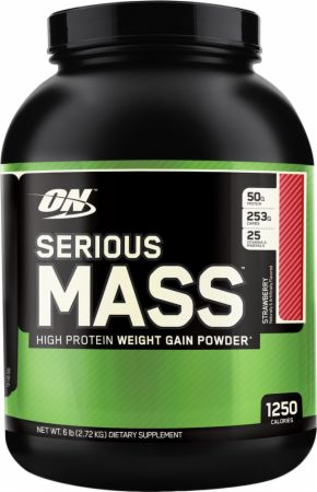 Image of Serious Mass Weight Gainer Strawberry 2.73 Kilograms - Mass Gainer Optimum Nutrition