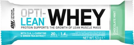 Image of Optimum Nutrition Opti-Lean Whey Bar 12 - 53g Bars Chocolate Mint