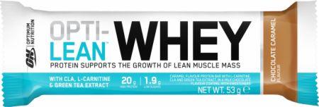 Image of Optimum Nutrition Opti-Lean Whey Bar 12 - 53g Bars Chocolate Caramel