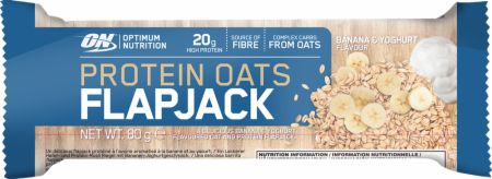 Image of Optimum Nutrition Protein Oats Flapjack Bar 12 x 80g Flapjacks Banana & Yoghurt