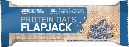 Image of Optimum Nutrition Protein Oats Flapjack Bar 12 x 80g Flapjacks Blueberry