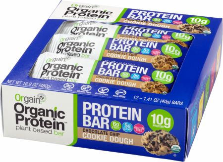 Image of Organic Protein Bar Chocolate Chip Cookie Dough 12 - 40g Bars - Protein Bars Orgain