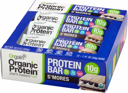Image of Organic Protein Bar S'mores 12 - 40g Bars - Protein Bars Orgain