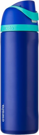 Image of FreeSip Insulated Stainless Steel Water Bottle Smooshed Blueberry (Blue) 24 Oz. - Water Bottles Owala