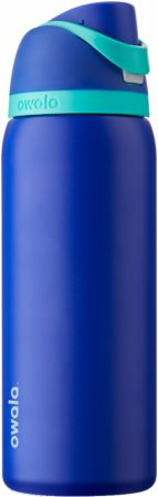 Image of FreeSip Insulated Stainless Steel Water Bottle Smooshed Blueberry (Blue) 32 Oz. - Water Bottles Owala