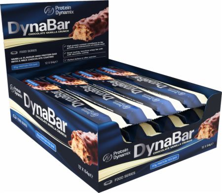 Image of Protein Dynamix DynaBar 12 - 64g Bars Chocolate Vanilla Crunch