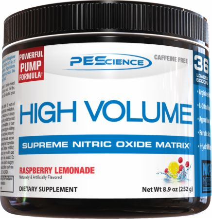 Image of High Volume Raspberry Lemonade 18 Servings - Nitric Oxide Boosters PEScience