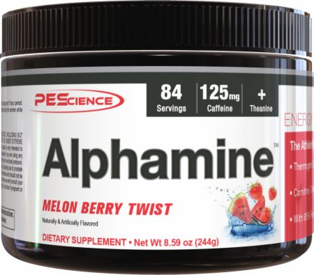 Image of Alphamine Melon Berry Twist 84 Servings - Fat Burners PEScience