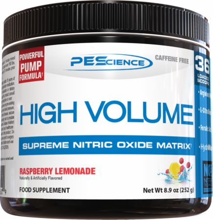 Image of High Volume Raspberry Lemonade 252 Grams - Nitric Oxide Boosters PEScience