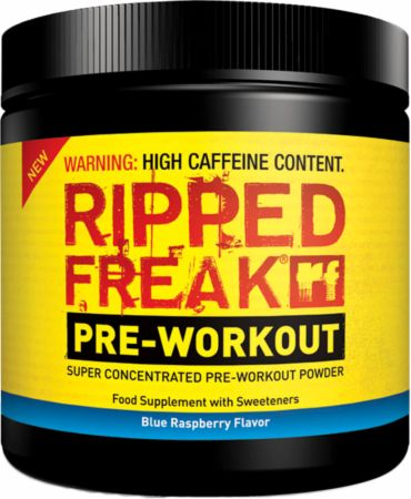 Image of PharmaFreak RIPPED FREAK Pre-Workout 200 Grams Blue Raspberry