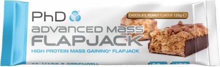 Image of PhD Advanced Mass Flapjack 12 - 120g Flapjacks Chocolate Peanut
