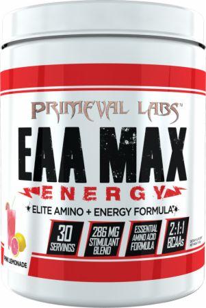 Image of EAA Max Energy Pink Lemonade 30 Servings - Amino Acids & BCAAs Primeval Labs