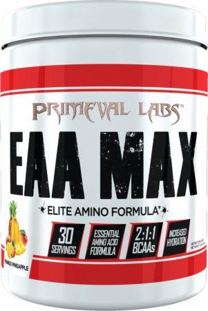 Image of EAA Max Mango Pineapple 30 Servings - Amino Acids & BCAAs Primeval Labs