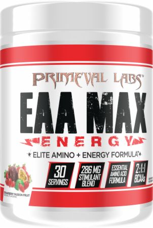 Image of EAA Max Energy Strawberry Passion Fruit 30 Servings - Amino Acids & BCAAs Primeval Labs