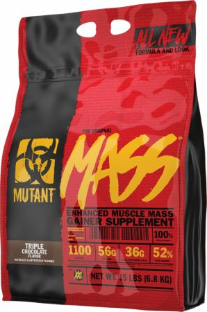 MUTANT Mass Triple Chocolate 15 Lbs. - Weight Gainers