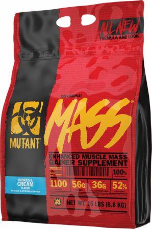 Image of Mass Cookies & Cream 15 Lbs. - Mass Gainers MUTANT