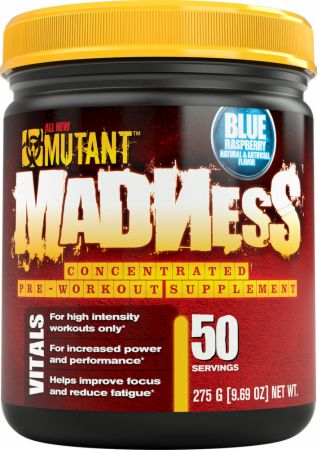 Image of MUTANT Madness 50 Servings Blue Raspberry