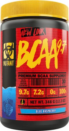 Image of BCAA 9.7 Blue Raspberry 30 Servings - Amino Acids & BCAAs MUTANT