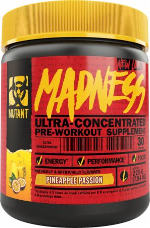 MUTANT Madness Pineapple Passion 50 Servings - Pre-Workout Supplements