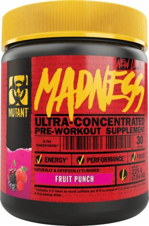 MUTANT Madness Fruit Punch 50 Servings - Pre-Workout Supplements