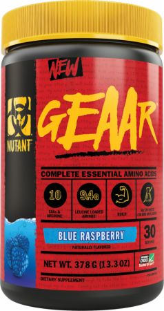 Image of GEAAR Essential Amino Acids Blue Raspberry 30 Servings - Amino Acids & BCAAs MUTANT