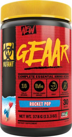 Image of GEAAR Essential Amino Acids Rocket Pop 30 Servings - Amino Acids & BCAAs MUTANT
