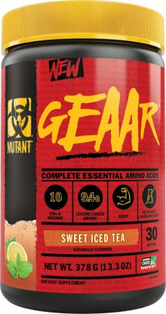 Image of GEAAR Essential Amino Acids Sweet Iced Tea 30 Servings - Amino Acids & BCAAs MUTANT