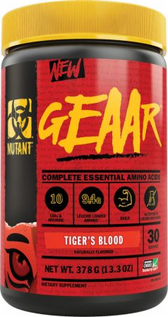 Image of GEAAR Essential Amino Acids Tiger's Blood 30 Servings - Amino Acids & BCAAs MUTANT