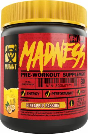 Image of Madness Pineapple Passion 30 Servings - Pre-Workout Supplements MUTANT