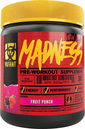 Image of Madness Fruit Punch 30 Servings - Pre-Workout Supplements MUTANT