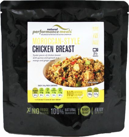 Image of Performance Meals High Protein Meal 1 x 350g Meal Moroccan Style Chicken and Quinoa