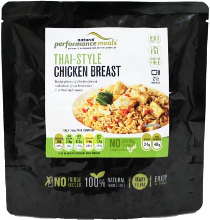 Image of Performance Meals High Protein Meal 350 Grams Thai Chicken and Brown Rice