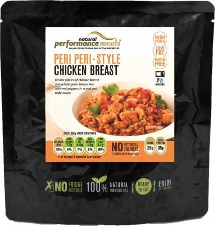 Image of Performance Meals High Protein Meal 350 Grams Peri Peri Chicken and Brown Rice