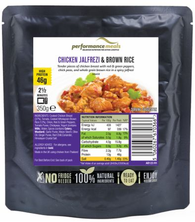 Image of Performance Meals High Protein Meal 350 Grams Chicken Jalfrezi & Brown Rice