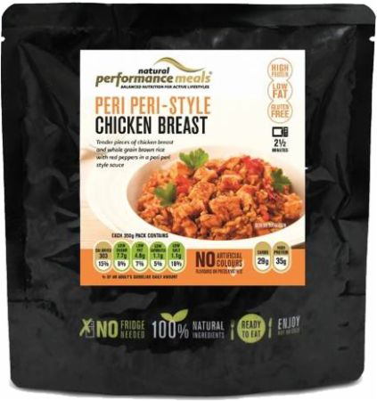 Image of Performance Meals High Protein Meal 12 x 350g Meals Peri Peri-Style Chicken Breast