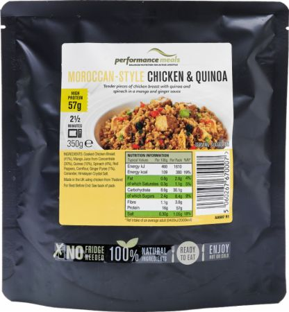 Image of Performance Meals High Protein Meal 12 x 350g Meals Moroccan-Style Chicken & Quinoa