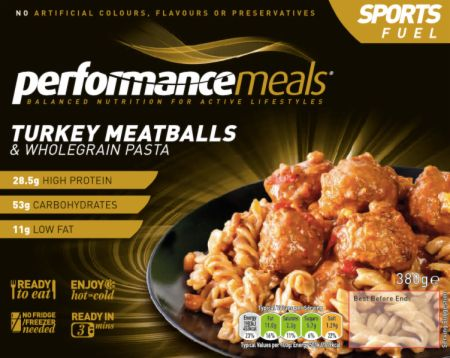 Image of Performance Meals Sports Fuel 6 Meals Turkey Meatballs & Wholegrain Pasta