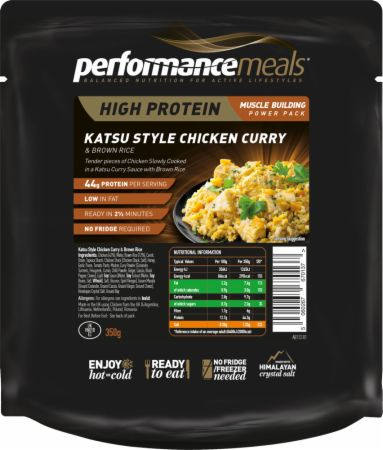 Image of Performance Meals High Protein Meal 1 x 350g Meal Katsu Style Chicken Curry & Brown Rice