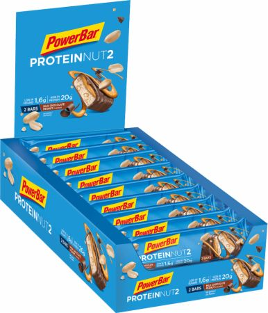 Image of PowerBar Protein Nut2 Bar 18 x 60g Bars Milk Chocolate Peanut