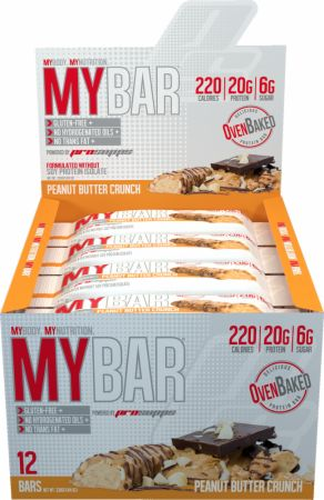 Pro Supps MY BAR Peanut Butter Crunch 12 - 55g Bars - Protein Bars