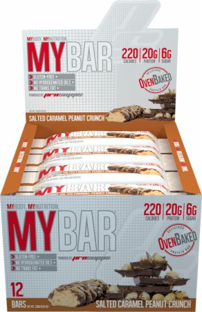 Pro Supps MY BAR Salted Caramel Peanut Crunch 12 - 55g Bars - Protein Bars
