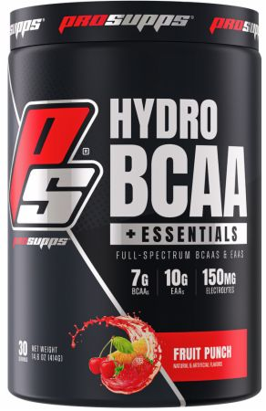 Image of HydroBCAA + EAA Fruit Punch 30 Servings - Amino Acids & BCAAs Pro Supps